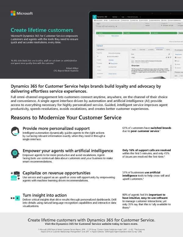 Dynamics 365 for Customer Service - Create lifetime customers 2
