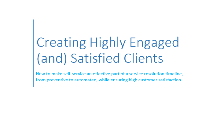 Creating Highly Engaged and Satisfied Clients - Whitepaper 1