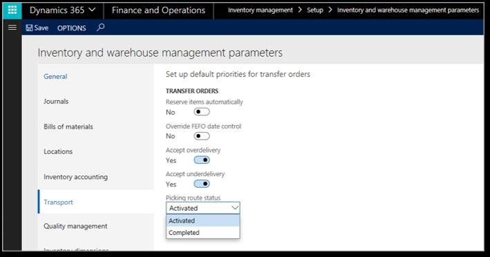 Dynamics 365 Supply Chain Management Warehouse management